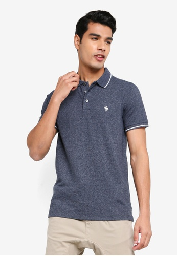 ABERCROMBIE & FITCH navy Core Icon Polo Shirt 27CC5AA9C2A19EGS_1