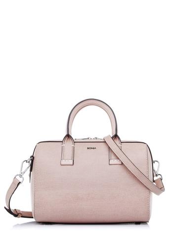 BONIA pink Blush Pink Avenue Satchel 7A6D0AC26BAC45GS_1