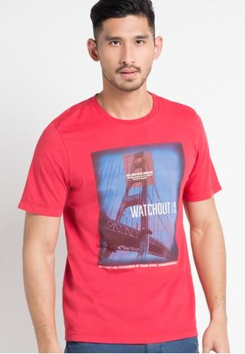 Watchout! Casual red Tshirt 061 WA972AA84EKXID_1
