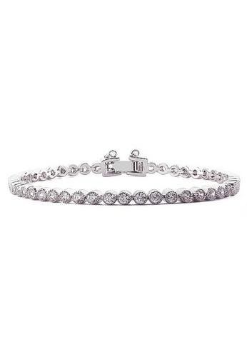 Vivere Rosse silver L'amore Tennis Bracelet VI014AC22ICBMY_1