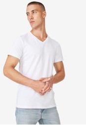 Cotton On white The Other Vee T-Shirt CO372AA52ZWPMY_1