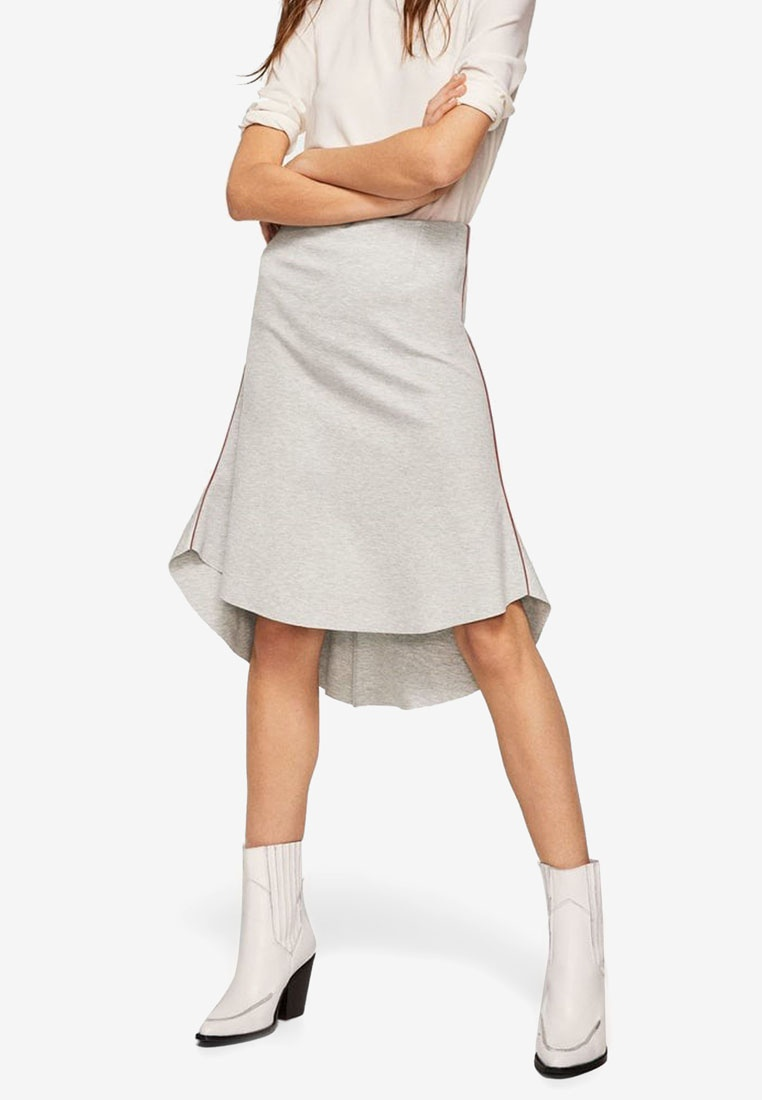 Trim Pastel Light Mango Decorative Grey Skirt 1wBnfxCq