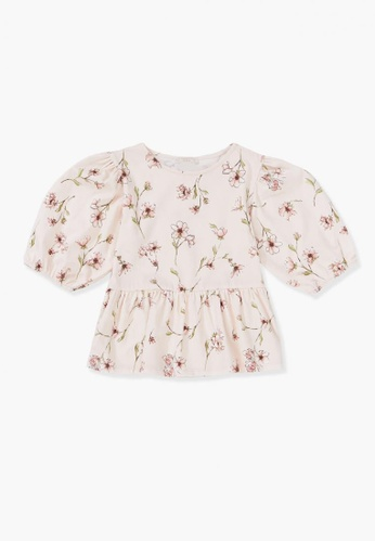 FOREVER 21 pink Floral Print Top F6D31KA8F57DBDGS_1
