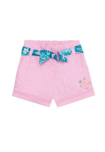 Du Pareil Au Même (DPAM) pink Waist Tie Shorts 710EAKA1396498GS_1
