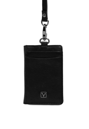 Valentino Rudy black Valentino Rudy Soft Leather Cardholder Lanyard C932FACBB89CE7GS_1