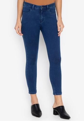 MEMO blue Mid Rise Skinny Jeans C4D1BAAC15379FGS_1