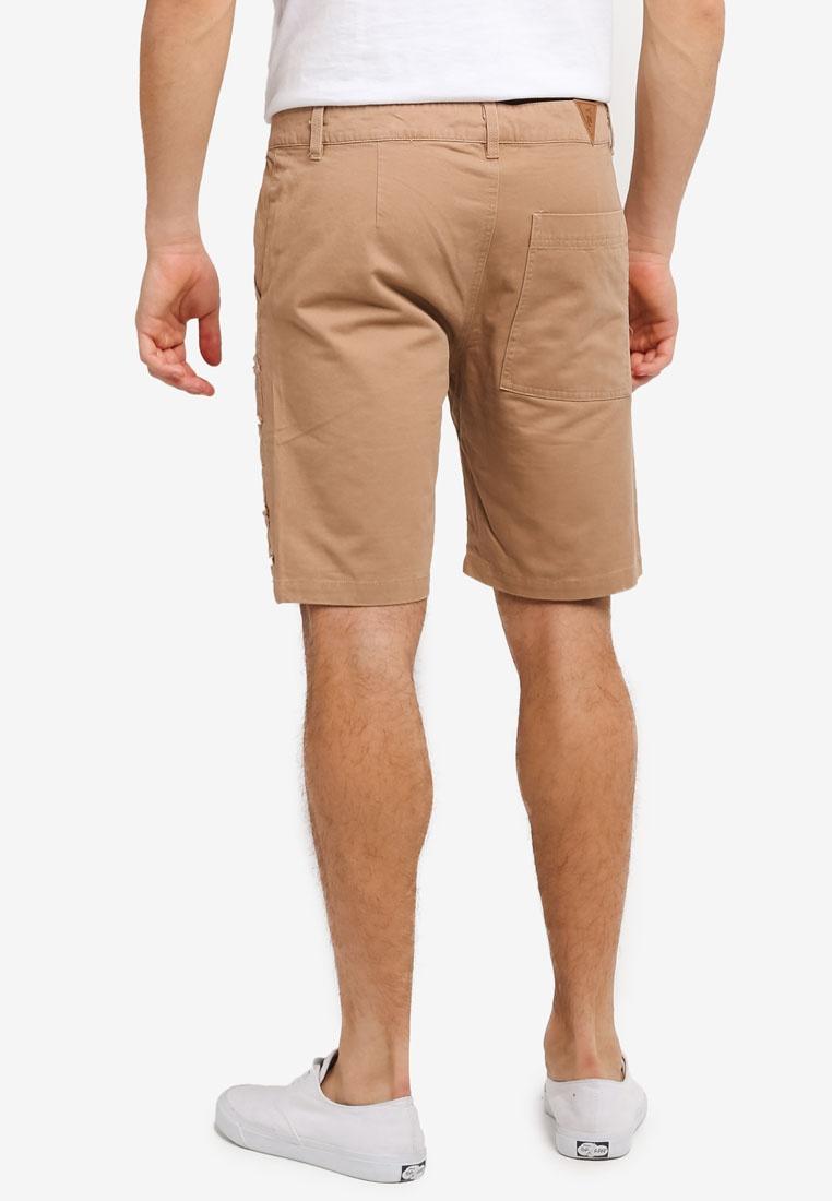 Khaki Distressed Groot IMP Shorts Flesh xwHOO1I0q
