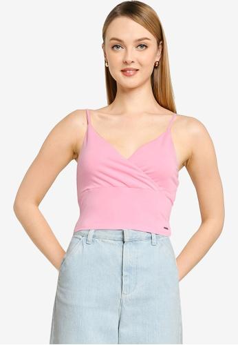 Hollister pink Wrap Cami 969AEAAC3FCBFCGS_1