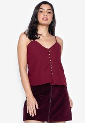 D Fashion Engineer red Lala Over Button Top 175BBAA8010D9CGS_1