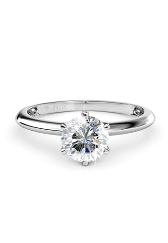 Her Jewellery silver Swarovski® Zirconia - I Do Ring - (18K White Gold Plated) Her Jewellery HE581AC0RDG5MY_1