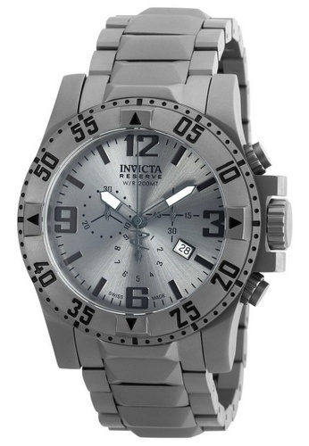 INVICTA silver Invicta Excursion Men 49.5mm Case Titanium Titanium Strap Silver Dial Quartz Watch 90154 IN968AC0F5ANSG_1