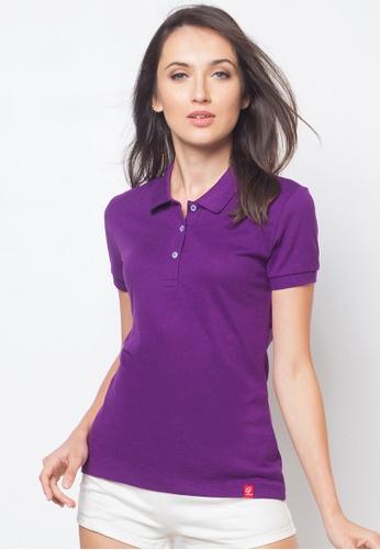 Guitar purple Solid-toned Polo Shirt GU661AA83AFOPH_1