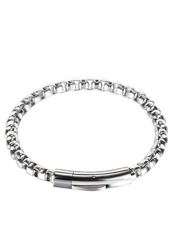 Trendyshop silver Men's Bracelet 3D450AC612D7DEGS_1