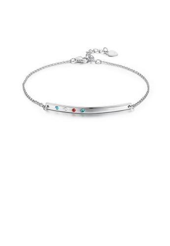 Glamorousky silver 925 Sterling Silver Simple Bar Bracelet with Austrian Element Crystal ADA01AC9C76CEBGS_1