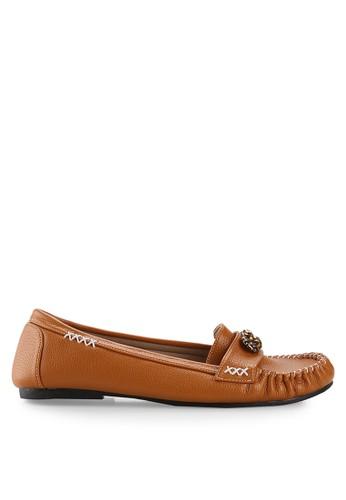 Vencedor brown Vencedor Luna Flat Shoes in Tan VE205SH56KAHID_1