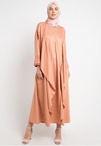 JV Hasanah brown Aliza Flare Dress C8CAAAAADA19C7GS_1