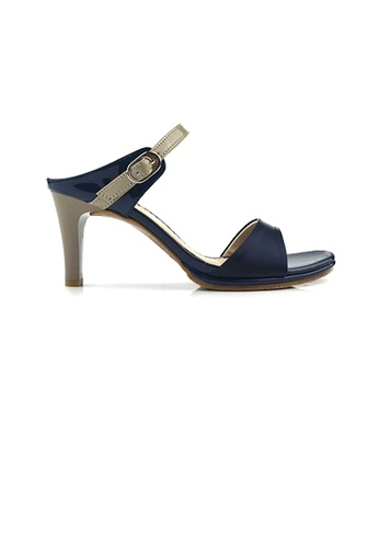 SHINE blue Slip On Mule Heels DF31BSH0B408D6GS_1