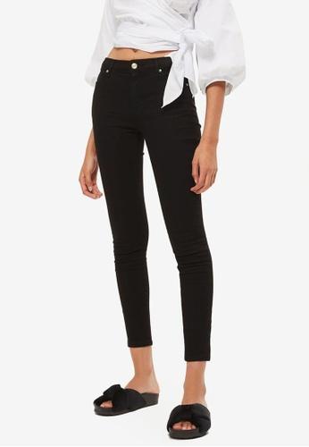TOPSHOP black Moto Black Sidney Jeans TO412AA0S2ZHMY_1