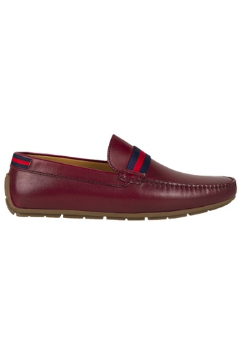 Tomaz red Tomaz C331 Striped Penny Loafers (Wine) 1AB2BSH9D712DAGS_1