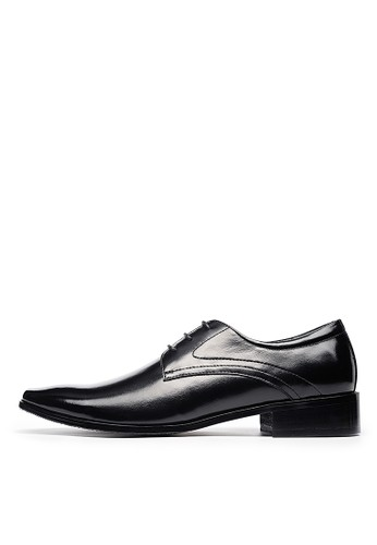 雅痞菱紋,頭層牛皮商務皮鞋-esprit taiwan04694-黑色, 鞋, 皮鞋