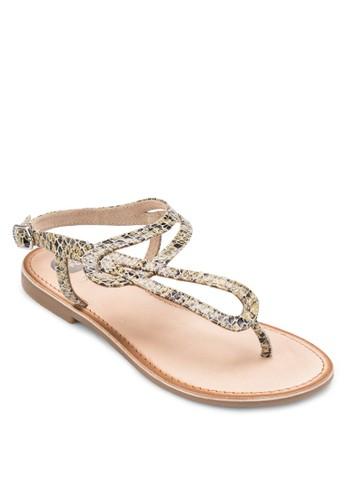 Rocheux 印花夾趾涼鞋, 女鞋, esprit 澳門涼鞋