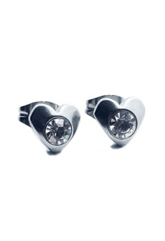 Stainless Steel Heart Stud Earrings