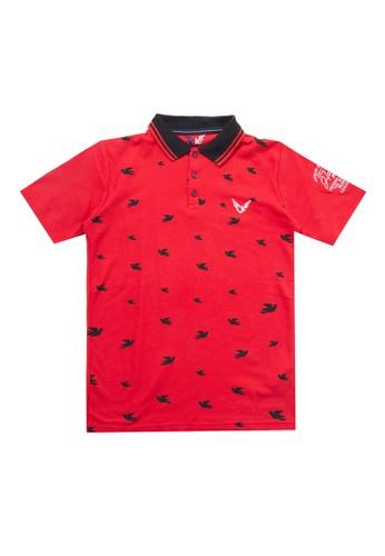 Cardinal Kids red Short Sleeves Polo Shirt BC40AKA99043FDGS_1