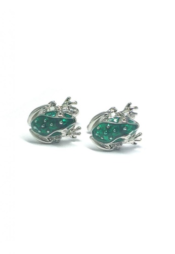 Splice Cufflinks green and silver Green Frog Cufflinks   SP744AC38DUFSG_1
