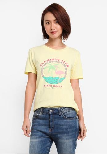 MbyM yellow Flamingo Club Tee BEA0FAA4FEEAEBGS_1