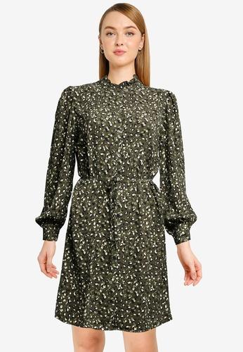 JACQUELINE DE YONG 綠色 Milo Frill Shirt Dress 6AA25AAB58F050GS_1