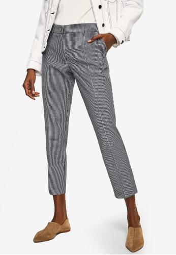 Mango black Straight Checkered Trousers 6EA84AAB2265AEGS_1