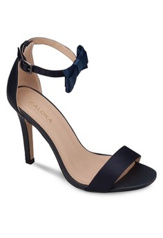 Heeled Sandals With Bow Ankle Strap Details