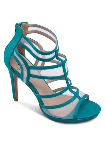 網紗拼接多帶高zalora 心得跟鞋, 女鞋, 鞋