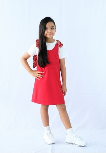MyPrettyPlay red MyPrettyPlay Primrose Pinafore Red C3513KAF47F13AGS_1