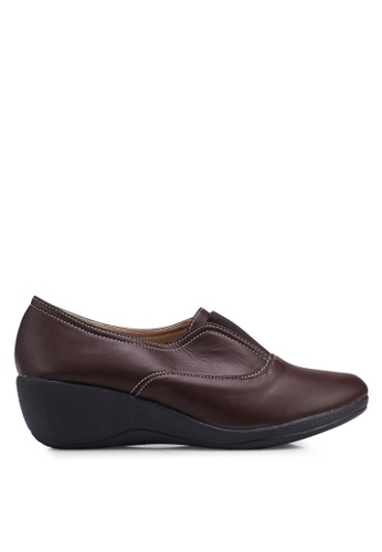 Louis Cuppers brown Faux Leather Wedges DC1ABSH0FCA2AFGS_1