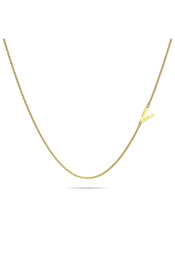 Bullion Gold gold BULLION GOLD Bold Alphabet Letter Initial Charm Necklace in Gold Tone - V A102CACE8AFE28GS_1