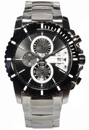 Alexandre Christie black and silver Alexandre Christie - Jam Tangan Pria - Silver - Stainless Steel - 6455MCBTBBA AL709AC0U8B8ID_1