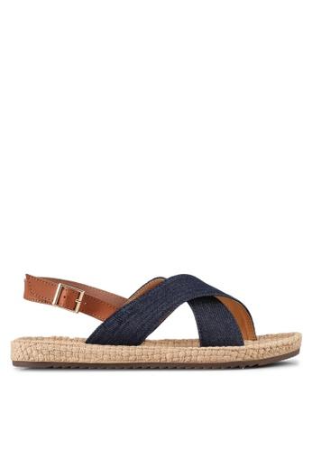 Mimosa blue Cross Strap Sandals CEA52SHA89DAACGS_1