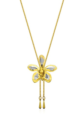 RISIS multi RISIS 24K Gold and Palladium Plated Natural Aeridovanda Vieng Ping Orchid Slider 6B069AC7F9388EGS_1