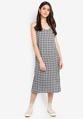 Factorie black and white Midi Slip Dress A533EAA1106385GS_1