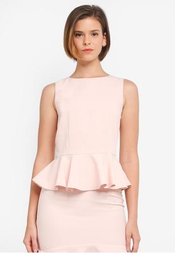 ZALORA pink Peplum Top 4B64CAA0264546GS_1