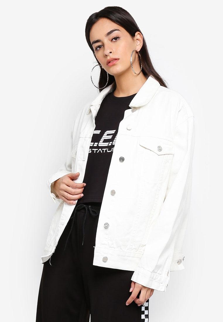 cfd7722f55c Oversized Denim Oversized White Jacket MISSGUIDED Denim MISSGUIDED Denim  Jacket White Oversized White MISSGUIDED Jacket q4fnH ...