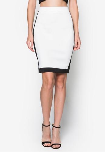 拼色鉛筆zalora 順豐短裙, 服飾, 裙子