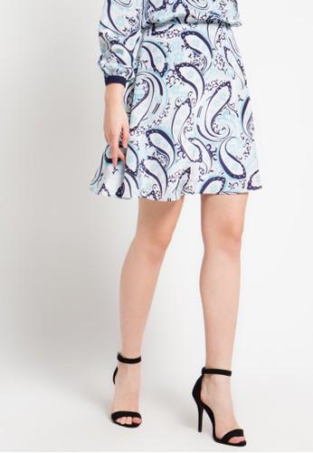 Bateeq blue Medium Paisley Skirt BA656AA53ZUCID_1