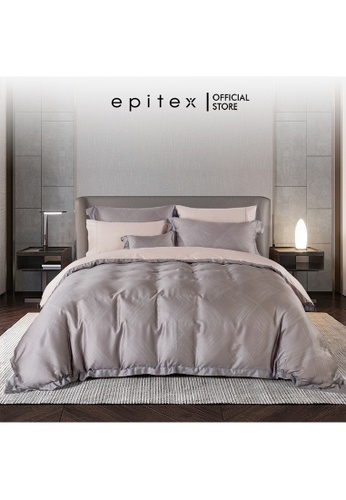 Epitex Epitex HOMME 1600TC Tencel Printed Bedsheet - Fitted Sheet Set - (w/o quilt cover) FF2D8HL20C72D4GS_1