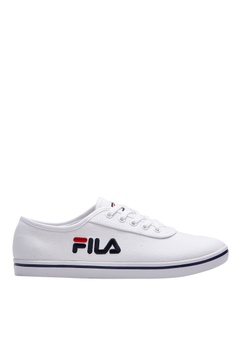 5f0093ce7b21 FILA white Online Exclusive Canvas Sneakers D6F0CSH42F05A4GS_1