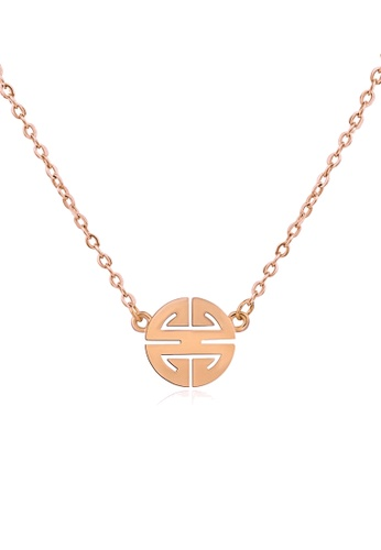 CELOVIS gold CELOVIS - Miracle Wufu Blessings Amulet Necklace in Rose Gold C993FAC4B79286GS_1