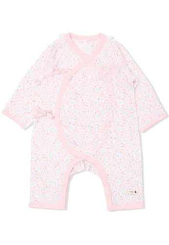 Organic mom pink Fresh Flora Newborn Gown (SPRING) 896C3KAE03D32FGS_1