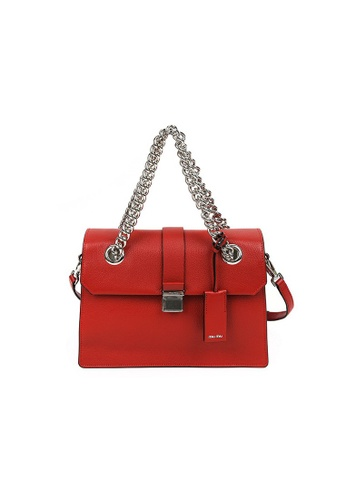 Miu Miu red MIU MIU MADRAS SHOULDER BAG 8FC95AC53608BEGS_1