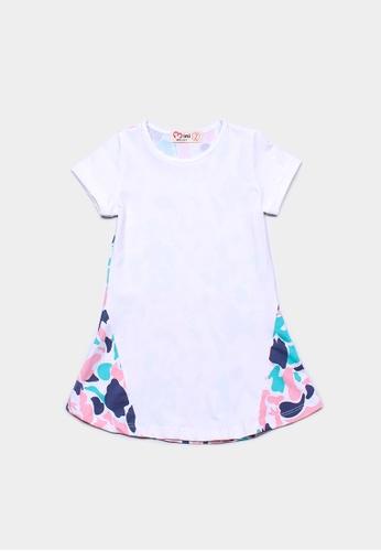 Mini Moley white Design Print Girl's Shift Dress E4128KA600CF86GS_1